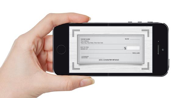 imagen de toma de teléfono de un cheque