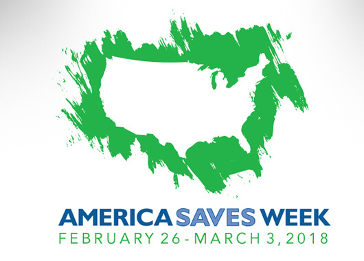 USA country outlined with America Saves Week text