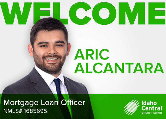 Picture of Aric Alcantara with his job title as a Mortgage Loan Officer